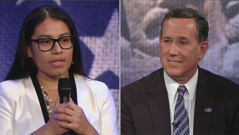 """Rick Santorum a una dreamer: """"Puedes irte a cualquier otro país"""""""