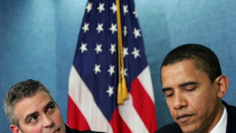 """George Clooney y Barack Obama en un evento con la """"crema y nata"""" artísti..."""