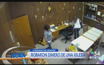 Buscan a dos mujeres acusadas de robar a una iglesia