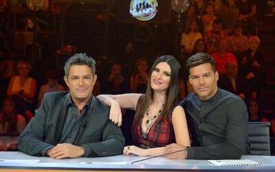 Alejandro Sanz, Laura Pausini y Ricky Martin en La Banda por Univisión