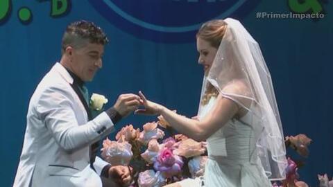 Novio propuso matrimonio en la cuerda floja