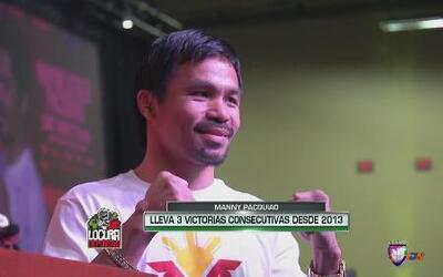 Manny Pacquiao ya está en Las Vegas