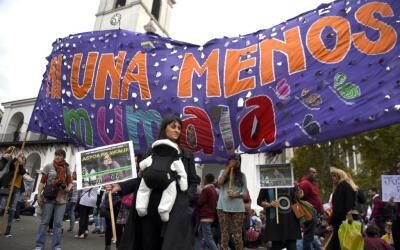 Protesta contra la violencia de género en Argentina en abril de e...