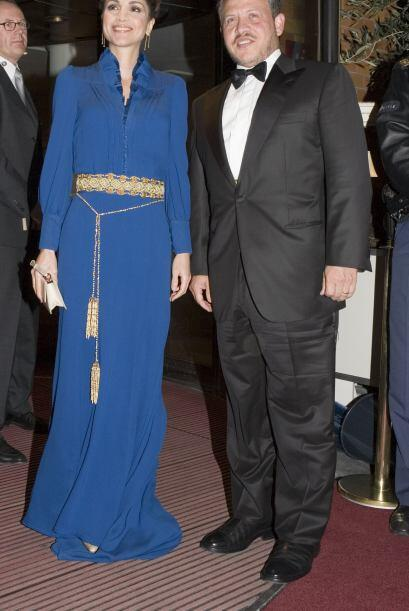 Tan pronto accedió al trono, la Reina Rania de Jordania deslumbr&...