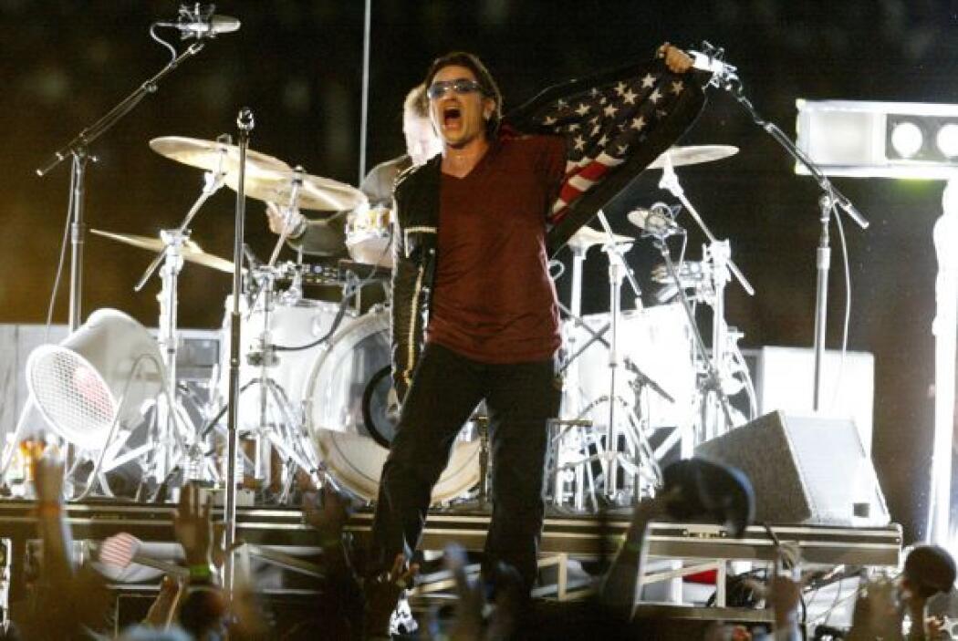 El grupo irlandés U2 en el SB XXXVI.
