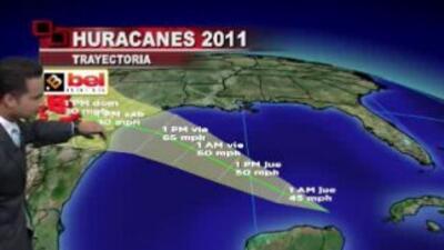 En este mapa se refleja la posible trayectoria de la tormenta tropical Don.