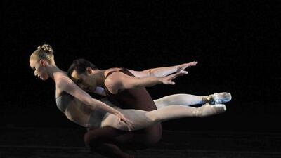 Los primeros bailarines Teresa Reichlen y Jared Angle, integrantes del N...