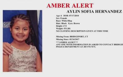 Alerta amber por niña de 6 años, residente de Bridgeport, Connecticut