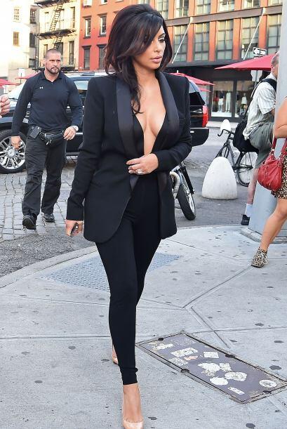 ¡Otra que se puso atrevida fue Kim Kardashian! Ella prefiri&oacute...