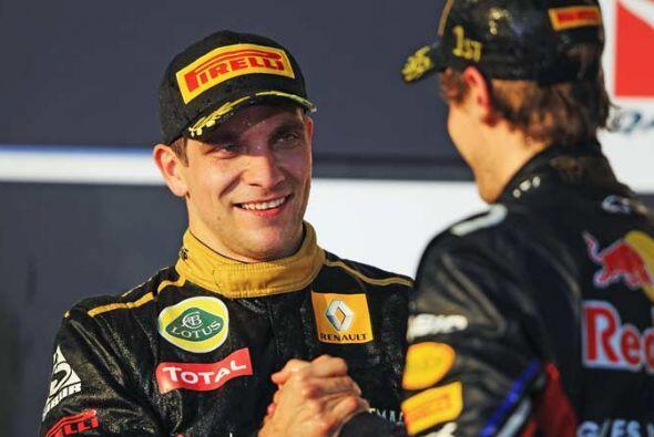Petrov le dio la primera satisfacción a la escudería Lotus...