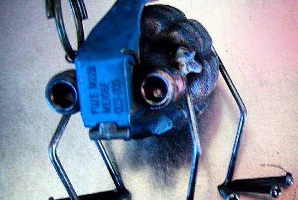 Esta granada modificada fue confiscada en el aeropuerto del Paso, Texas....