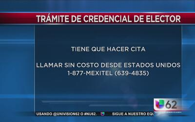 Mexicanos pueden tramitar credencial de elector en consulado