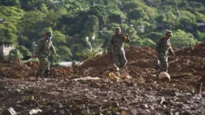 Devastación en Guerrero, México.