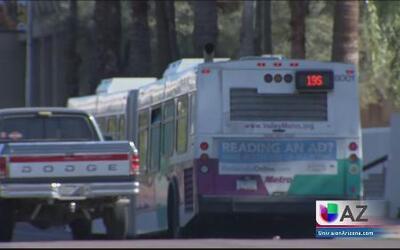 Amenaza de huelga de choferes en Phoenix