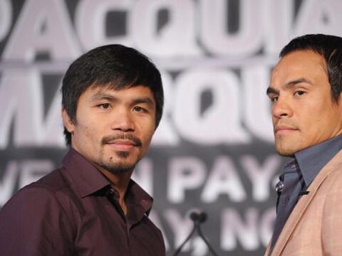 Manny Pacquiao y Juan Manuel Márquez llegaron a Nueva York para c...