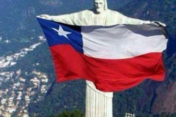 No podía faltar la bandera con el Cristo Redentor. Todo sobre el Mundial...