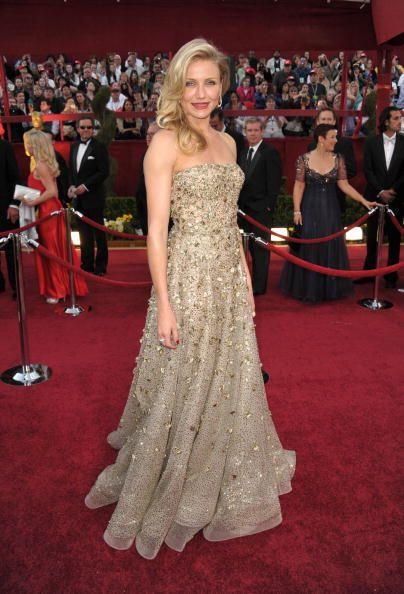 Con este vestido que lleva Cameron Díaz podría reemplazar a las estatuil...
