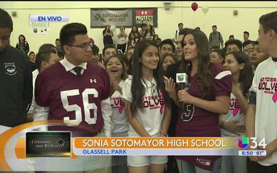 Líderes del futuro: Sonia Sotomayor High School