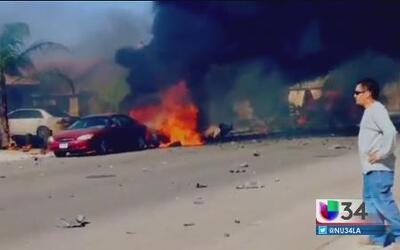 Jet militar se estrelló en Imperial Valley