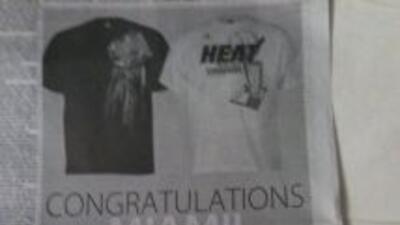Un día después de que el Miami Heat perdiera el campeonato de la NBA fre...