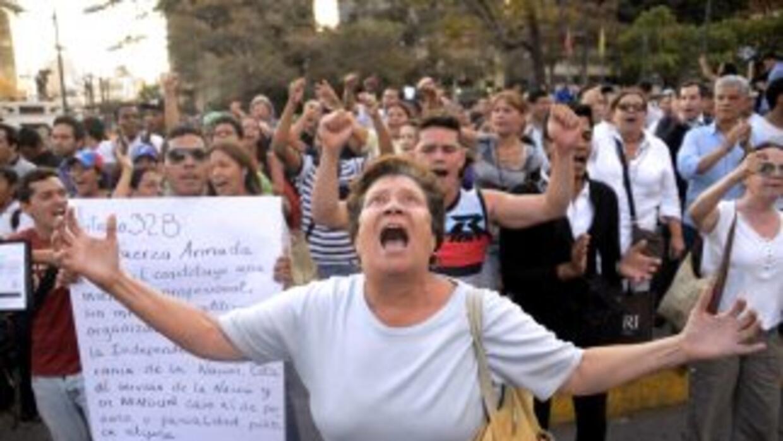 Gritos en Altamira este lunes 17 de marzo.