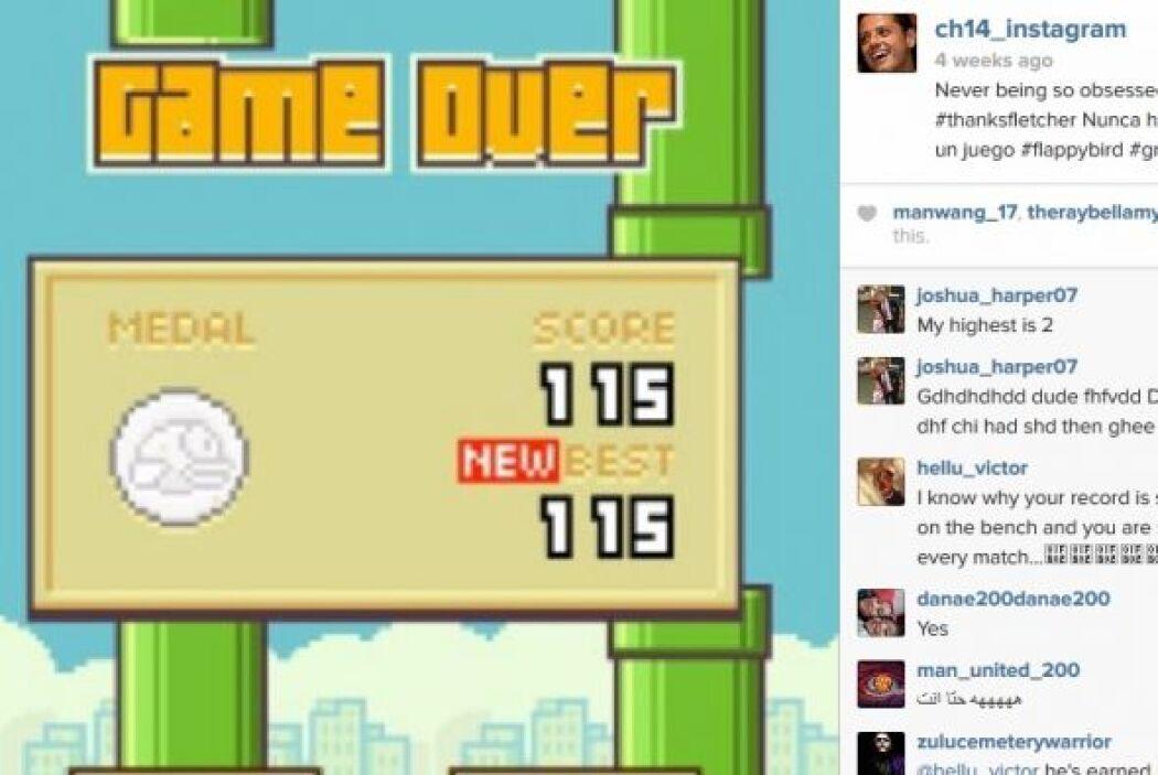 También ha hecho pública su obsesión por un juego llamado 'Flappy Birds'...
