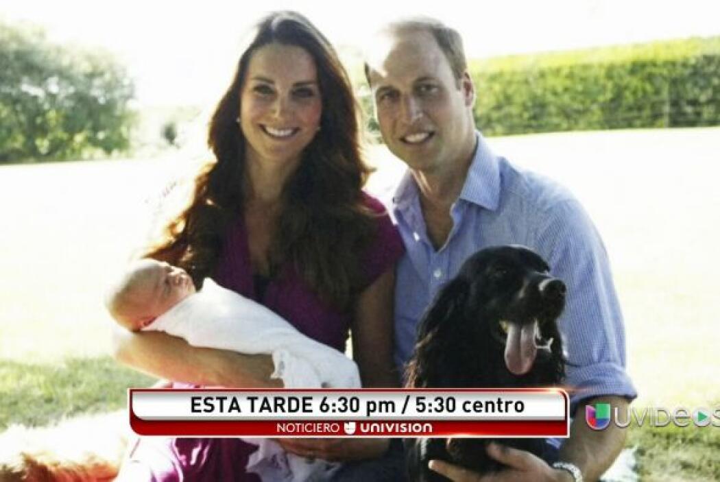 El palacio de Kesington dio a conocer esta imagen del príncipe George co...