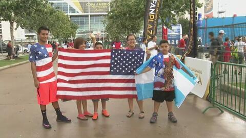 Se desborda la pasión ante el encuentro Argentina vs EEUU