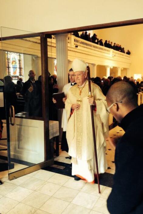El servicio religioso fue presidido por el cardenal Edward Egan.