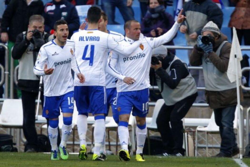 Se adelantó el Zaragoza con goles Benítez y Postiga.