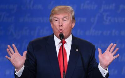 Donald Trump en el debate de Las Vegas, Nevada.