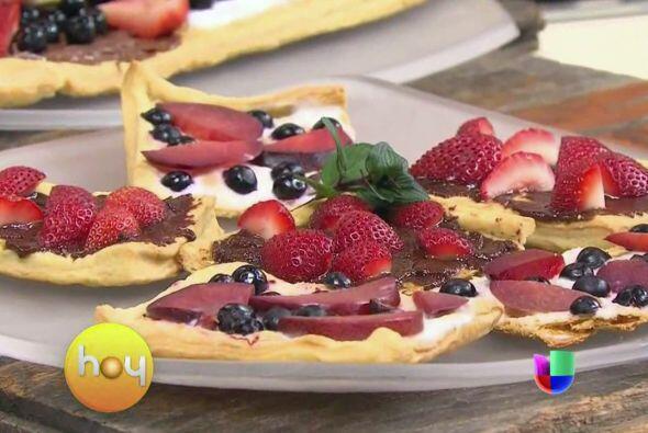 Llegó el momento de presentar recetas más dulces como esta pizza que te...