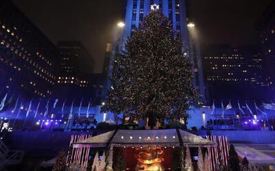 Inicia la temporada navideña en Nueva York con el encendido del árbol en...