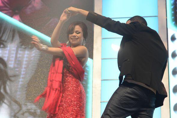 Ana Cristina bailando antes de la gala 9.