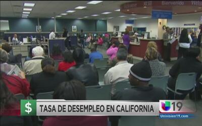 Tasa de desempleo en California