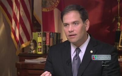 El Senador Marco Rubio habló con Jorge Ramos sobre política migratoria y...