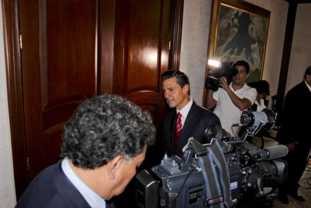 Peña aseguró que sabía que los cuerpos de seguridad de México se encontr...