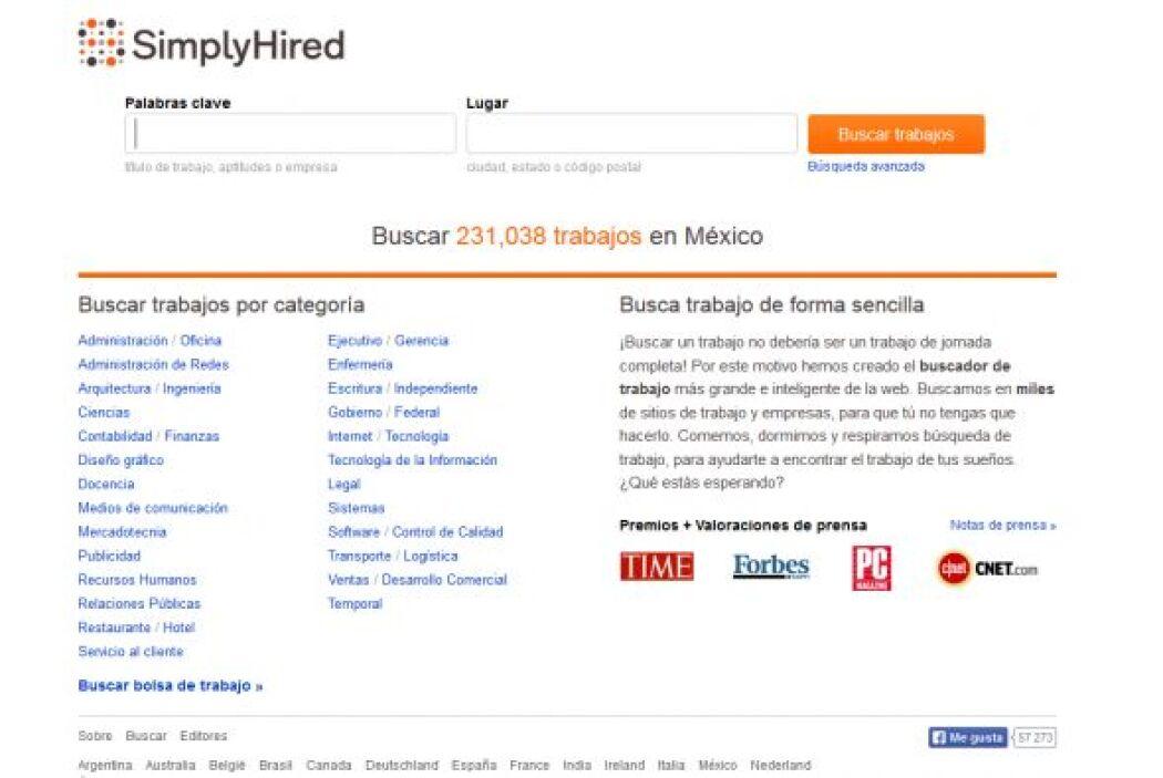 SimplyHired: Este sitio publica listados, incluidas juntas de trabajo, s...