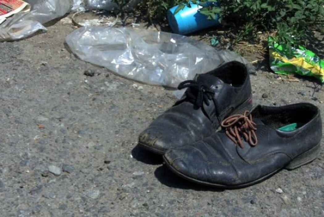 Zapatos, ropa, restos de comida y más, son las pertenencias que tuvieron...