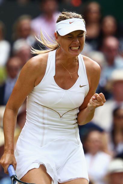 Parecía que Maria Sharapova metería las manos y revertir&i...