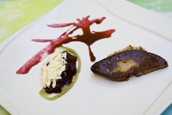 Foi gras con compota de moras en el Restaurant Wish. Para quienes quiere...