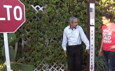 Conoce la casa con recámaras en México y el jardín en Estados Unidos