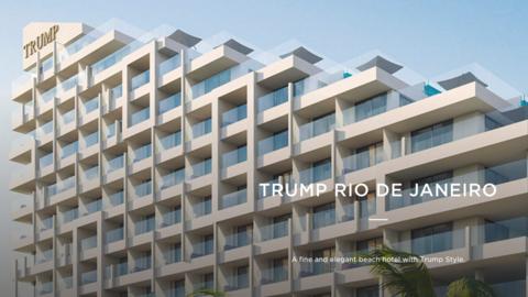 Fachada del recién inaugurado Hotel Trump en Río de Janeir...