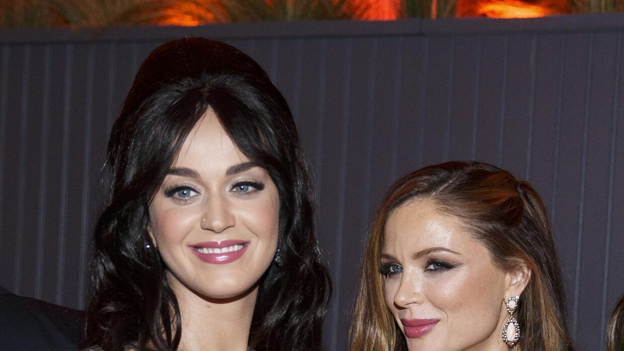 Katy Perry and Georgina Chapman on The Weinstein Company And Netflix Gol...
