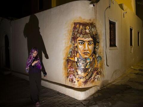 Piezas de arte transformaron de color las calles del barrio de Djerba en...