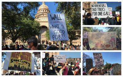 30 poderosos mensajes en los carteles de la manifestación proinmigrante...