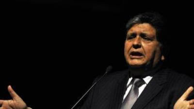 El presidente peruanoAlan García.