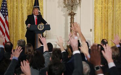 Primera rueda de prensa de Donald Trump como Presidente de EEUU.