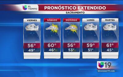 Sacramento seguirá con lluvia intermitente
