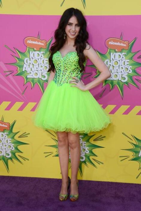Ryan Newman se anticipó con su vestido verde en caso de ser una de las e...